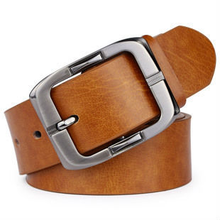 Free shipping 2013 new fashion simple genuine leather cowhide leather all match men's belt 120cm B023#