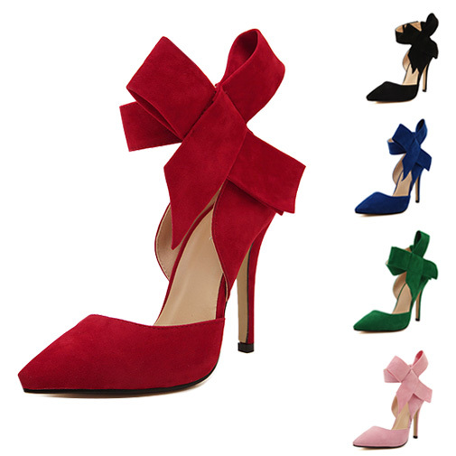 New Arrival Women Heels Summer Style Wedding Shoes Women Pumps Butterfly Knot Sexy Ladies High Heels Red Heel Sapato Feminino(China (Mainland))