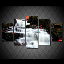 Buy 5 Pcs/Set Framed HD Printed Waterfall Landscape Poster Picture Wall Art Home Decor Artworks Abstract Canvas Oil Painting for $37.59 in AliExpress store