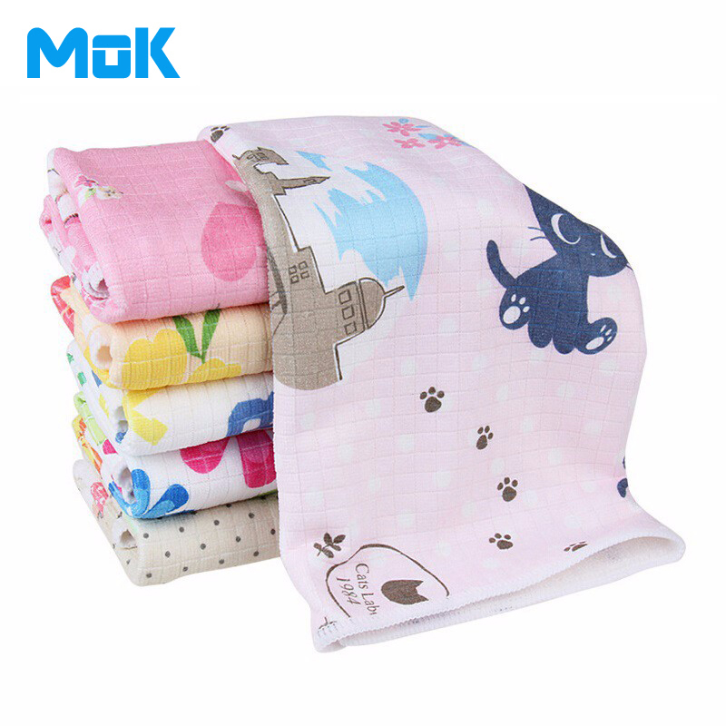 8 Pieces Cartoon Printed Lattice Microfiber Glass Cleaning Cloth Absorbent Kitchen Towels Panno Da Cucina House 30*40cm(China (Mainland))