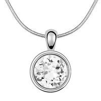 High Quality Necklace Pendants Crystal from Swarovski White Gold Plated 2016 Fashion Jewelry Trendy Bijouterie For Women 531