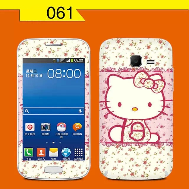 Rose hello kitty print sticker Samsung Galaxy Ace 3 screen protector Ace3 S7278 cell mobile smart phone skin cover film - Decor Union Store store