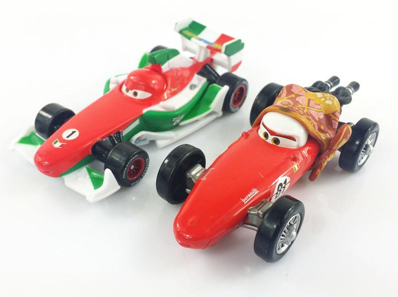 2Pcs Original Pixar Cars 2 F1 Francesco Bernoulli MoM and NO.1 Diecast Metal Alloy Modle Brio Toys New(China (Mainland))