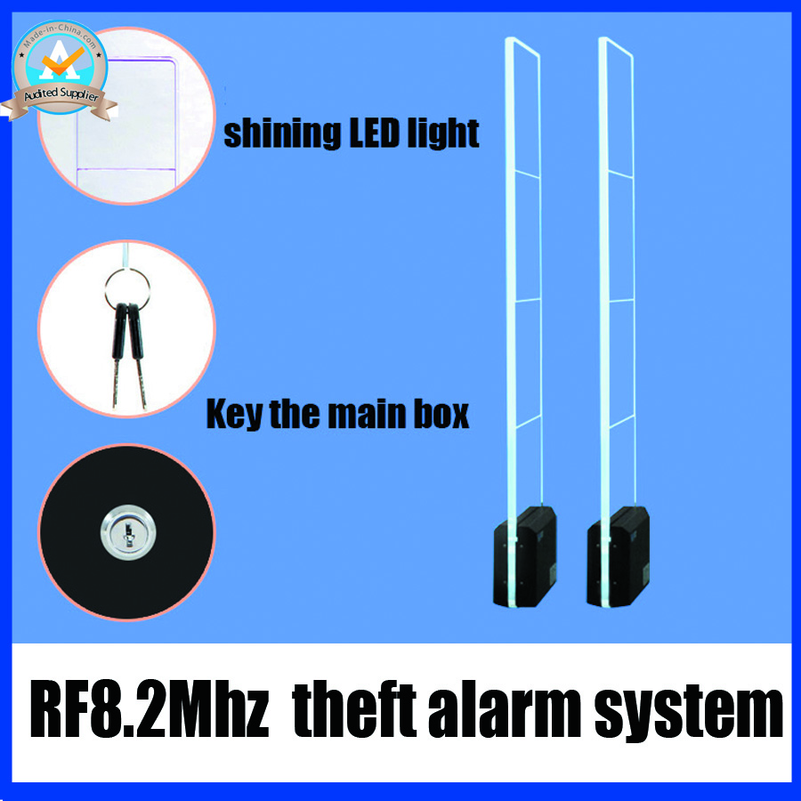 RF8.2Mhz theft alarm system,acrylic eas system,sound and light security alarm for supermarket fashion store and retail shop(China (Mainland))