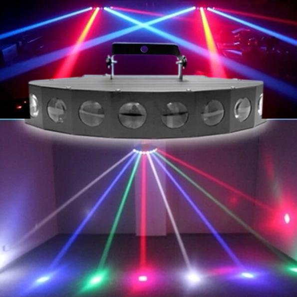 Фотография Hot Sale 8X10W CREE LED RGBW 8 Eyes Laser Beam Effect Light KTV Disco DJ Effect Lighting