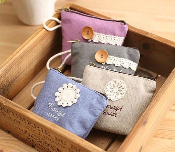 Korea creative coin bag  Small Wallet Coin Bag Floral Lace purse key bag<br><br>Aliexpress