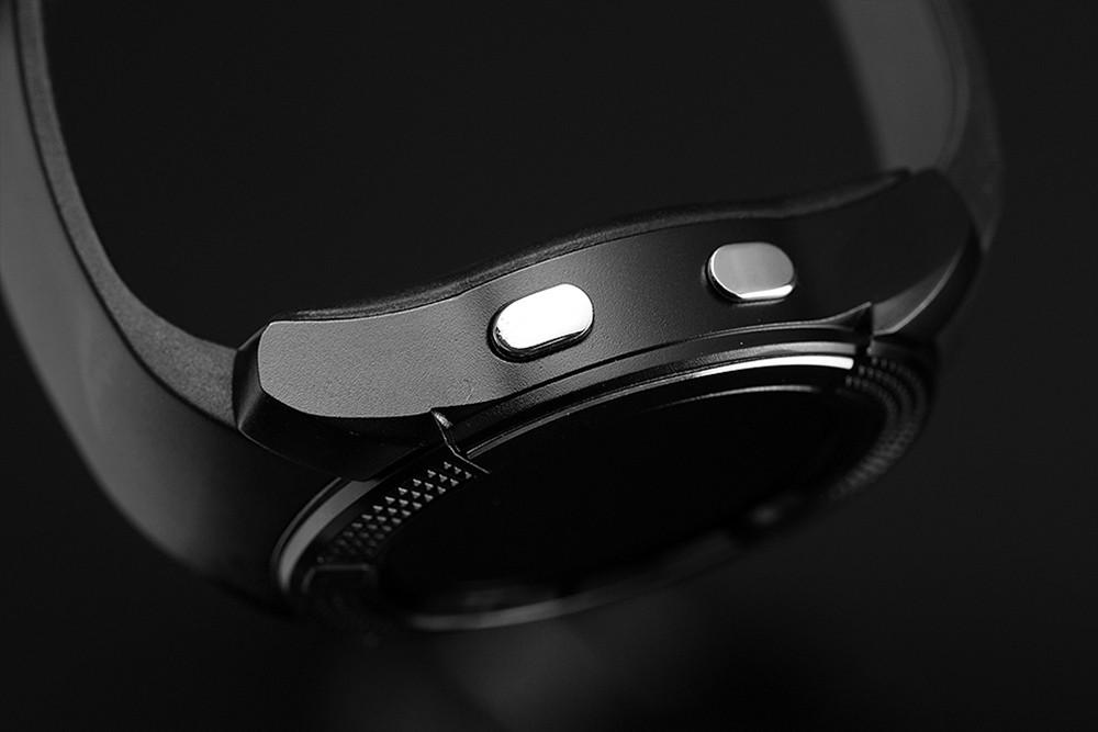 ถูก Tenfifteen a10 1.22นิ้วรอบหน้าจอsmart watch bluetooth3.0 gsmนาฬิกาโทรศัพท์mtk2502ลำโพงต่อต้านหายไปpedometerกีฬานาฬิกา
