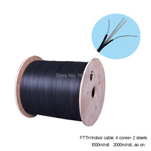 Buy 1000m/roll Steel Wire Type 4 Cores outdoor FTTH fiber optic Drop Cable Multi Loose Tubes Armoured single mode fiber optic cable for $95.00 in AliExpress store