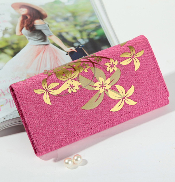 Fashion Printed Flower Canvas Wallet long style large space big capacity women's wallet(China (Mainland))