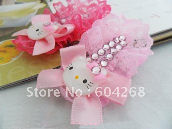 2 colors Beautiful hair band Sweet Hello Kitty Hair bands( girls hair accessories, kids Hair wear) 50pcs/lot Free Shipping(China (Mainland))