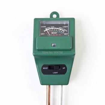 1Set Flowers Soil Test Kits 3 in 1 Plant PH Tester Illuminance Analyzer Moisture Meter Light