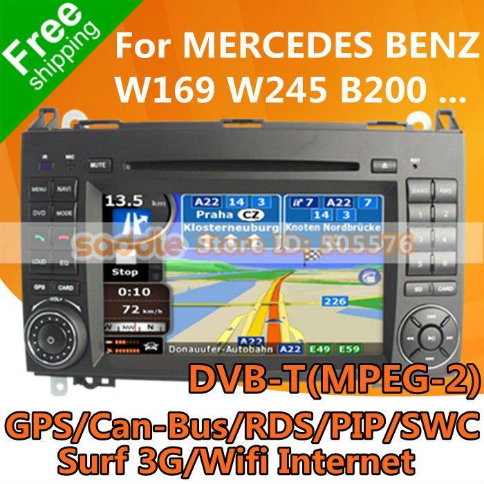 Car radio for mercedes benz w169 w245 b150 b170 b180 b200 for Mercedes benz truck radio code