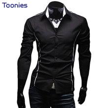 Buy 2017 New Fashion Casual Men Shirt Long Sleeve Business Slim Fit Shirt Men High Mens Dress Shirts Men Social Clothes XXXL for $6.13 in AliExpress store