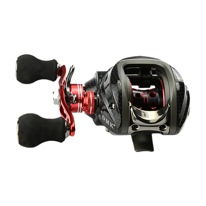 Wholesale Price 12BB 6.3:1 left Hand Baitcasting Fishing Reel Bait Casting Reels Red H1E1(China (Mainland))