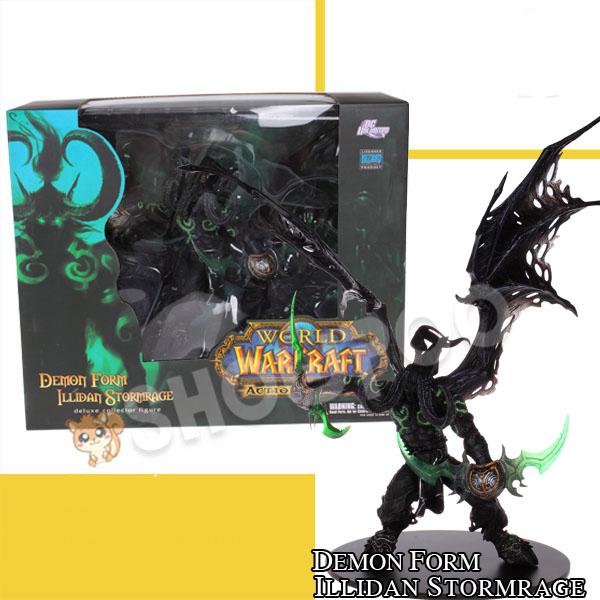 Hot Sale Game WORLD OF WARCRAFT The Demon Hunter Illidan Demon Figure WOW Toy Decoration Model 20cm(China (Mainland))