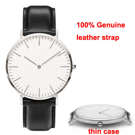 Relojes Watches Women klockor and Men Thin armbandsur Case Leisure Design Two Hands Branded(China (Mainland))