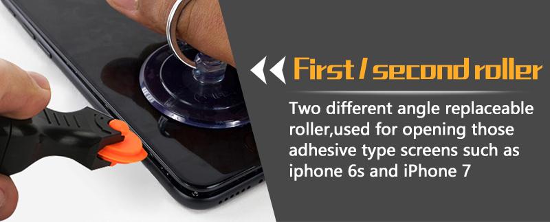 JAKEMY JM-OP17 Multi-function Tools Rolling Opener & Screwdriver Set for Apple iPhone 7 Repair