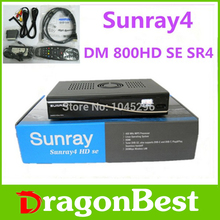 1pcs Sunray4 HD se 800HD se 3 in 1 tuner -T -C -S(S2) Triple tuner wifi with Security sim2.10 Card Satellite Receiver free ship