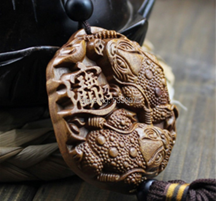 dongyang wood carving sandalwood decoration pendant figurine chinese carvings AHJ081