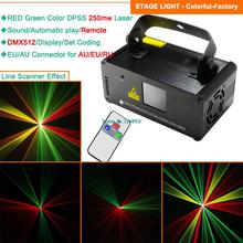 250mw RGY laser Line scanner remote DMX sound DJ dance bar Xmas Party Disco lighting effect laser Light stage Lights Show B116(China (Mainland))