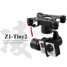 Free EMS DHL Zhiyun Tiny2 aerial gopro bruhsless gimbal for Hero 3 3+ 4 DJI Phantom 2 F450 F550 X525 drone