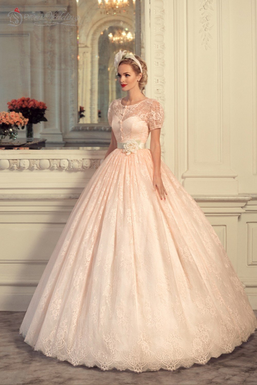 Vintage Wedding Dresses Pink : Blush pink wedding dresses vintage dress vestido de novia
