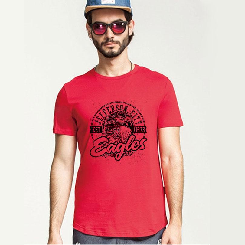 New Fashion eagles T Shirts O Neck Short Sleeve Boy Cotton Men Shirt Wholesale Casual Man Tees Free Shipping Mens Tops(China (Mainland))