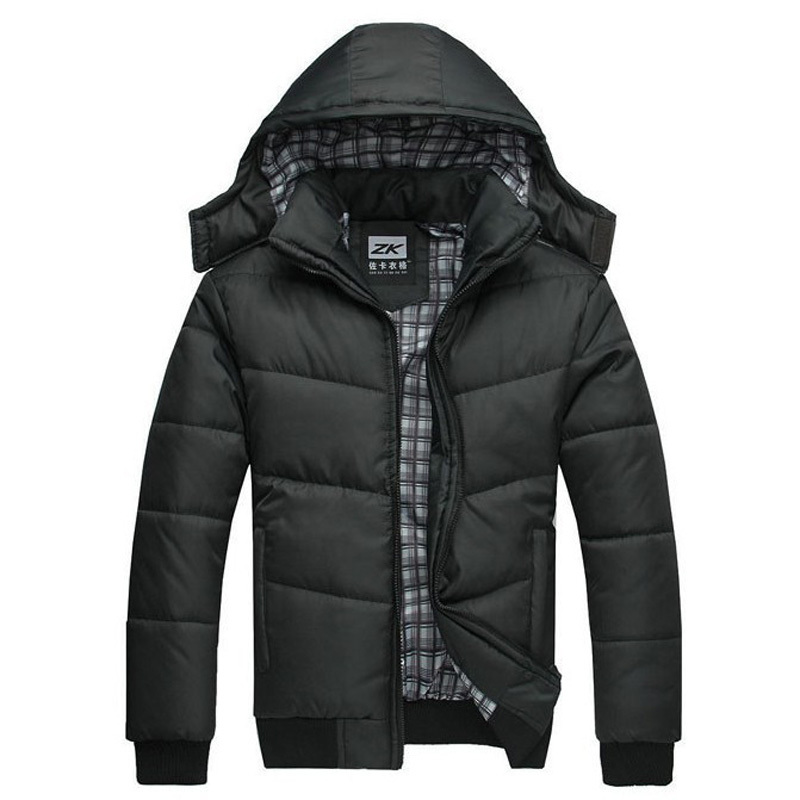 Winter Coat Men black puffe Cotton padded down jacket warm fashion male overcoat parka outwear hooded