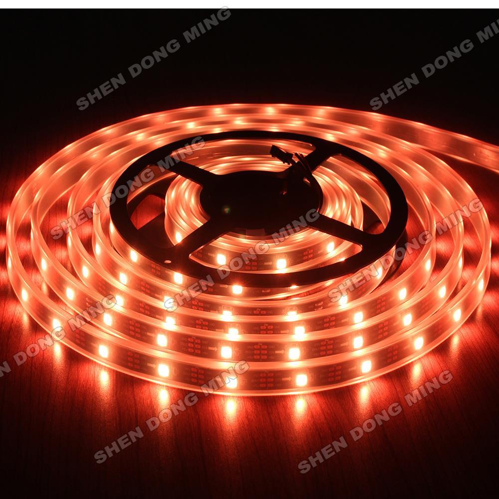 20M/lot LED Pixel Strip WS2812B DC5V 60Leds/M IP67 Waterproof SMD5050 led ribbon Changeable Color digital led strip(China (Mainland))