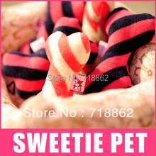 Free Shipping 2 colors 2 pcs/lot Pet loofah bone toy dog teeth toy odontoprisis bones toy natural pet squeak toy