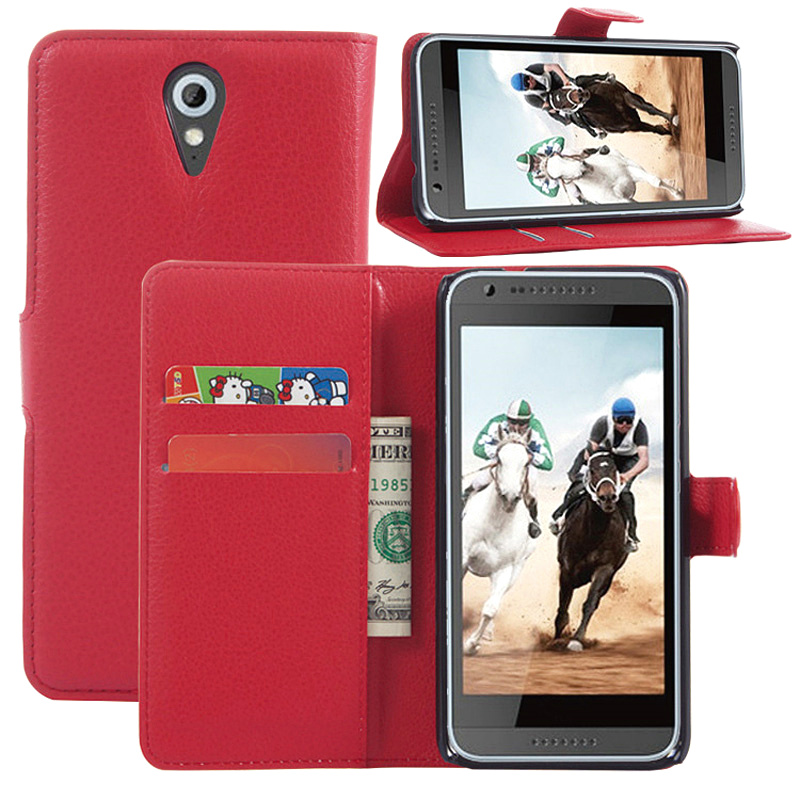 Luxury Flip Back Cover Leather Case for htc DESIRE 820 mini Leather Case with Card Slots Holder(China (Mainland))