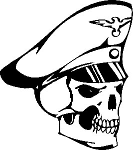 Car decals skull officer 12.5x11.5cm car motorcycle truck decals vinyl waterproof outdoor stickers(China (Mainland))