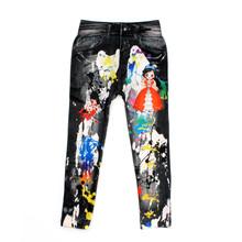 Cowboy Style Digital Printing Kids Cotton Pants Baby Cartoon Jeans Pattern Leggings For Beautiful Girl 5