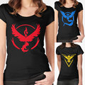 Women Summer Fashion Plus Size Pokemon Printed Short Sleeve Tee T shirts Red Yellow Blue S
