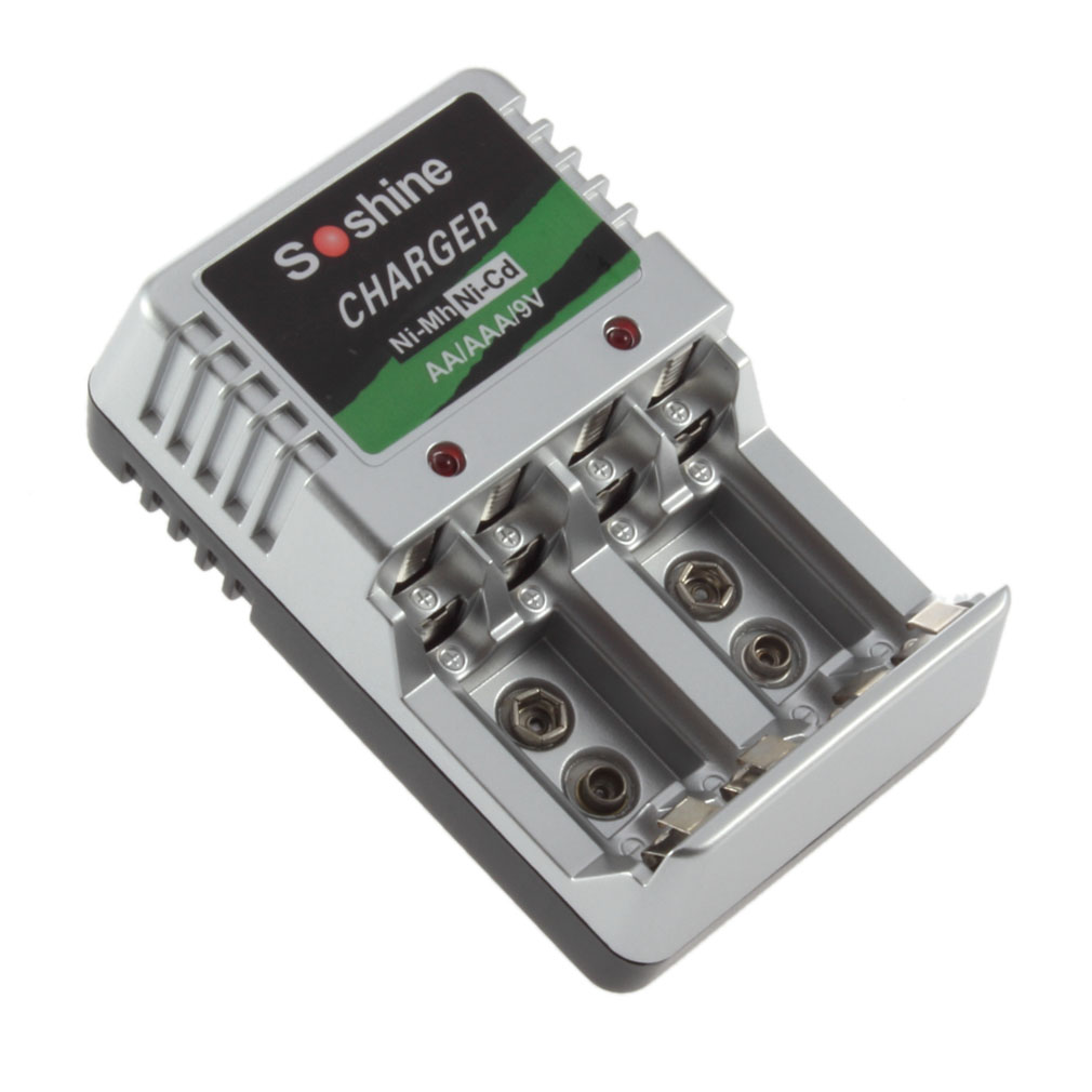 Гаджет  EU Plug Standard Charger 4 AA/AAA/9V/Ni-M?h/Ni-Cd Rechargeable Battery BatteriesPromotion None Бытовая электроника