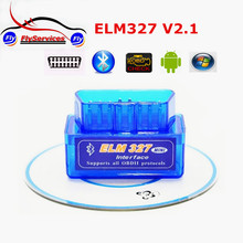 Latest Version Super Mini ELM327 Bluetooth V2.1 OBD2  Mini Elm 327 Car Diagnostic Scanner Tool For ODB2 OBDII Protocols(China (Mainland))