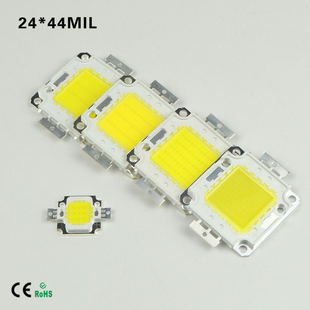 1PCS 10W 20W 30W 50W 100W led lamp beads chip outdoor lighting High Power 24x44Mil SMD Warm White/White FOR LED flood light(China (Mainland))