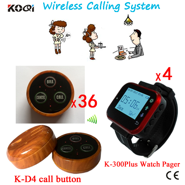 KOQI Wrist Pagers Wireless Calling Systems For Restaurant,Coffee Shop,Pub Waiter Service Calling Ststem Wireless Waiter Calling(China (Mainland))