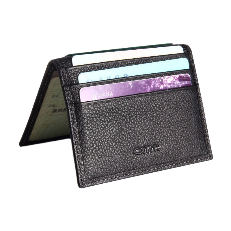 High quality genuine cow leather business card holder fashion men credit card holder New style ID card holder brand card wallet(China (Mainland))
