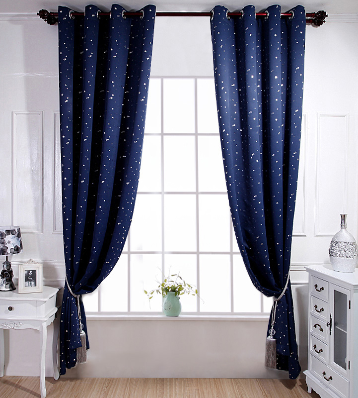 online get cheap navy blue curtains
