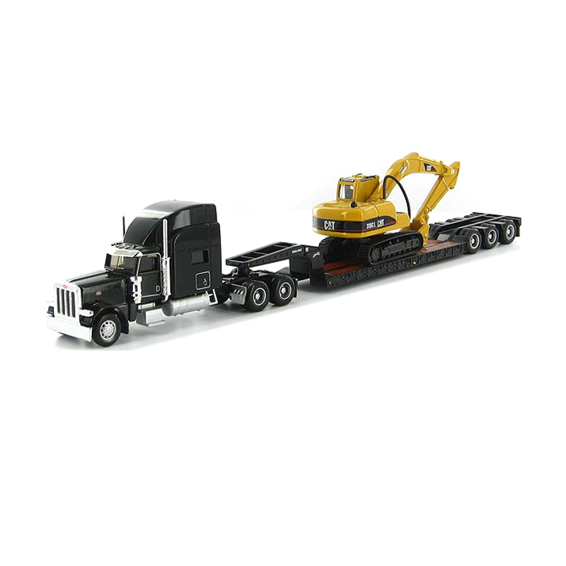 CAT03 1x NORSCOT Car Model BLACK Lowboy Trailer and Hydraulic Excavator 1:87 NEW(China (Mainland))