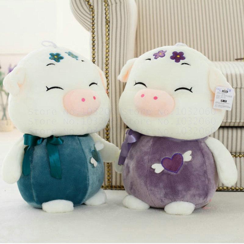 35 / 45 cm tamanho grande porco brinquedos de pelúcia porco boneca de pano de presente de aniversário amantes porco para crianças brinquedos do bebê crianças(China (Mainland))
