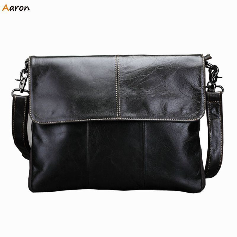 Aaron -  New Fashion Business Package Cover Crossbody Handbags,Head layer cowhide Shoulder Bag,Crazy Horse Leather Messenger Bag