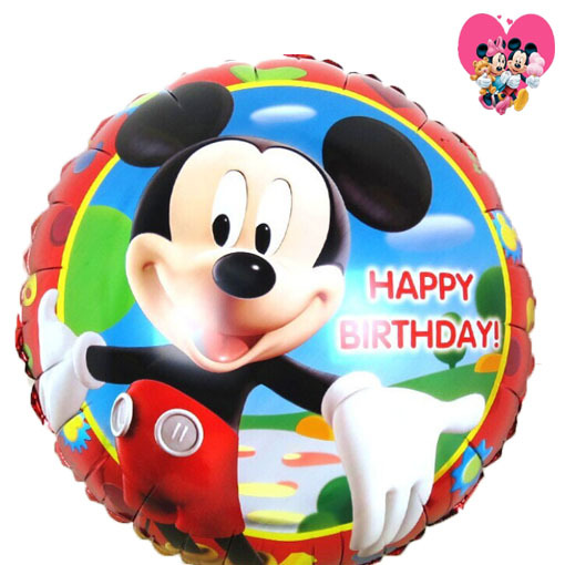 50pcs/lot happy birthday foil mickey balloons boys party supplies ballons inflatable air baloes 45*45cm free shipping(China (Mainland))