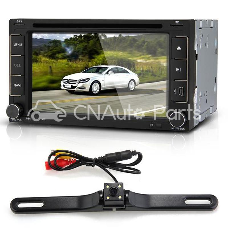 6 2 Car DVD Player Stereo In Dash 2 DIN GPS SD Camera Europe Map for