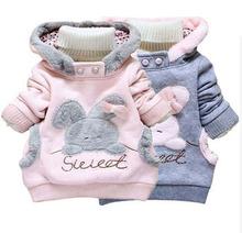 2015 baby girl spring pink rabbit hoodies blusas infantil casaco moleton meninas  polerones sudaderas kids sweatshirt clothes  (China (Mainland))