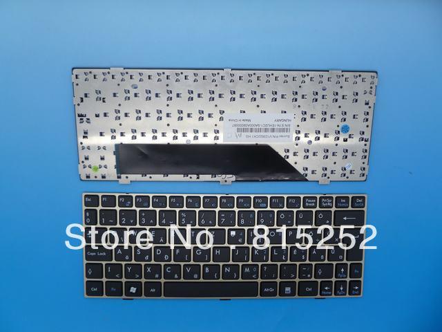 Laptop Keyboard For MSI Wind Netbook U135 U180 L1600 (Titanium Frame) Black HG Hungray V103622CK1 HG(China (Mainland))