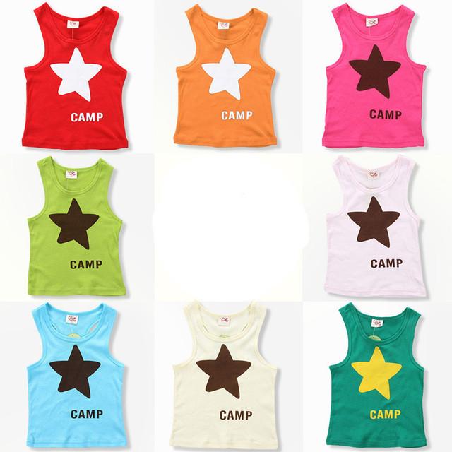 Летнее дети одежда, Девочки-младенцы, Мальчики жилет, Свободного покроя, Star, Дети ...