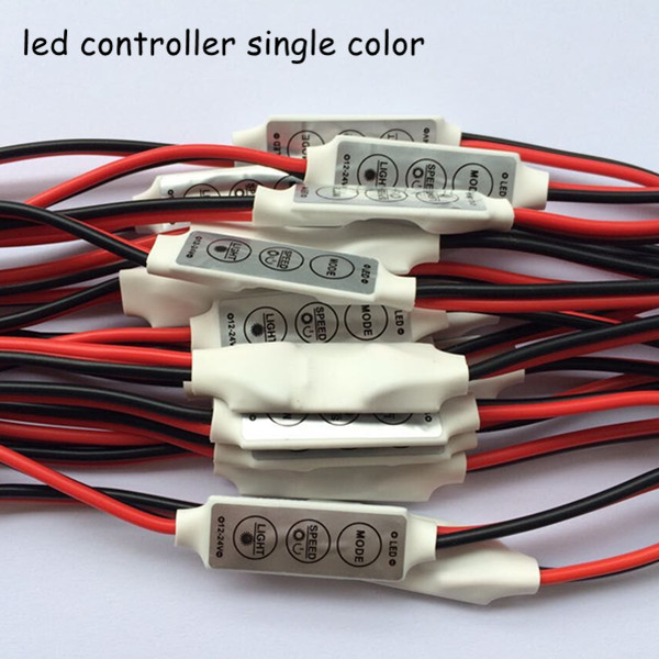 100pcs/lot dc12v 24v 6A mini 3 keys led dimmer 12v controller to control single color strips 3528 5050 light(China (Mainland))