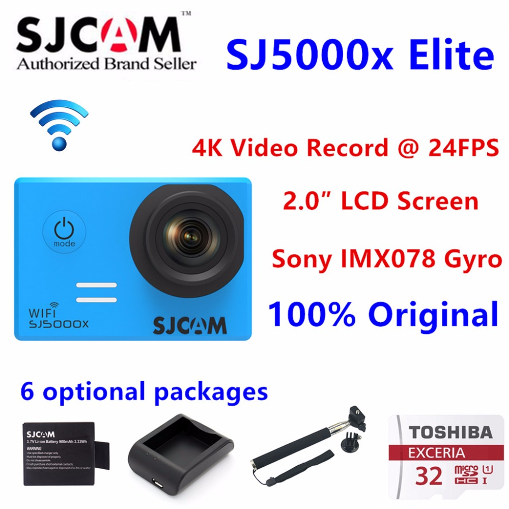 Original SJCAM SJ5000X 4K Elite Edition Action Camera sport camera HD DV camcorder 2.0 LCD Diving 30m VS Gopro VS xiaomi yi